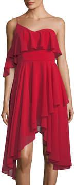 Keepsake One-Shoulder Chiffon Dress