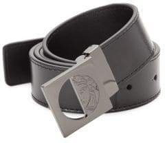 Versace Logo-Accented Leather Belt