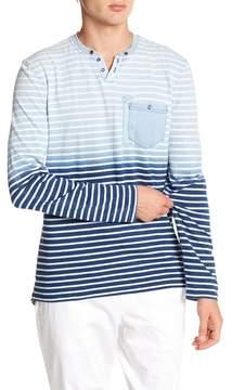 Report Collection Stripe Dip Dye Henley
