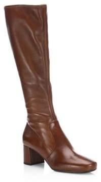 Prada Stretch Leather Tall Boots