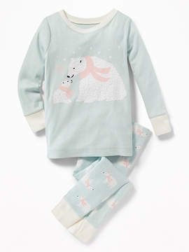 Old Navy 2-Piece Polar-Bear Graphic Sleep Set for Toddler & Baby