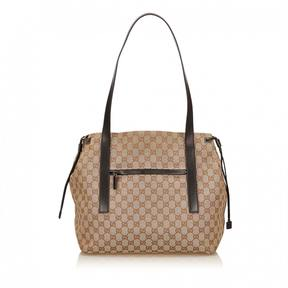 Gucci GG Suprême cloth tote - BROWN - STYLE