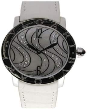 Bulgari Steel MOP Diamonds 37mm Ladies Watch BBL37WCDSL