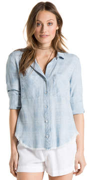 Bella Dahl Hipster Shirt -Shadow Plaid Wash-XS