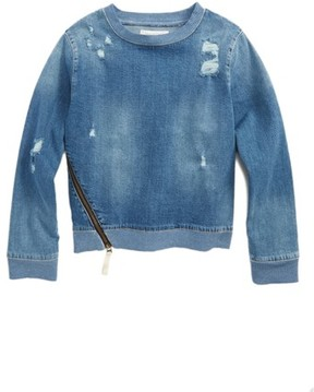 Treasure & Bond Girl's Denim Sweatshirt