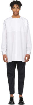 Jil Sander White Wide Tunic Shirt