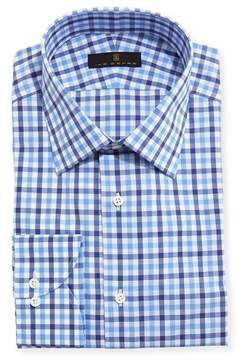 Ike Behar Gold Label Tattersall Dress Shirt, Blue/Navy