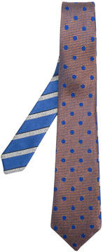 Canali striped and dots tie