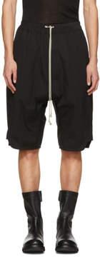 Rick Owens Black Basket Swinger Shorts