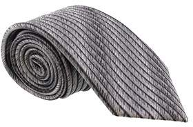 Missoni Feathered Stripe Grey Woven 100% Silk Tie.