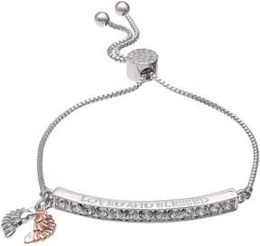 Brilliance+ Brilliance Loved and Blessed Adjustable Bracelet with Swarovski Crystals