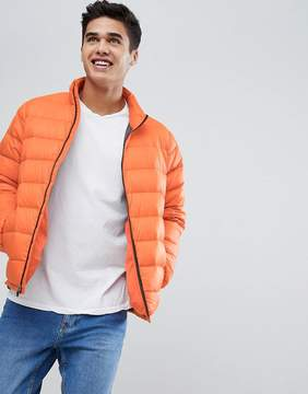 Abercrombie & Fitch Lightweight Puffer Jacket in Orange
