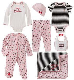 Kate Spade 7-Piece Cherry Starter Layette Set, Size 3-9 Months
