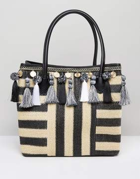 ALDO Taurano Tassel Straw Bag