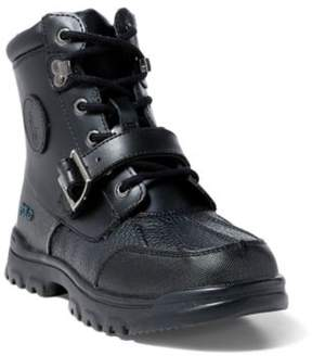 Ralph Lauren Colbey Boot Black/Burnished Leather 3.5