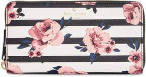Kate Spade Hyde Lane Rose Striped Lacey Wallet