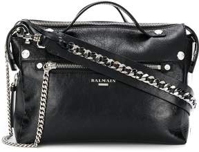 Balmain Mini Biker Leather Satchel