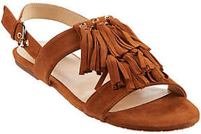C. Wonder As Is Suede Fringe Slingback Sandals-Jessica