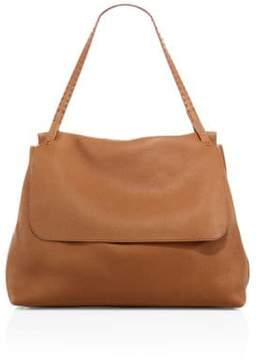 The Row Leather Top-Handle Messenger Bag