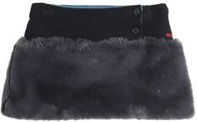 Sonia Rykiel Textured Jersey & Faux Fur Skirt