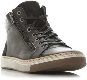 Dune London SPECTRUM - BLACK Side Zip High Top Sneaker