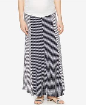 A Pea in the Pod Maternity Striped Maxi Skirt