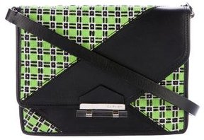 Carven Leather & Woven Crossbody Bag