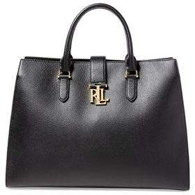 Lauren Ralph Lauren Carrington Brigitte Pebbled Leather Satchel
