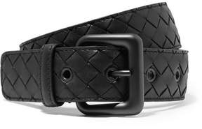 Bottega Veneta Intrecciato Leather Belt - Black