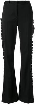 Capucci frill trim high waist trousers