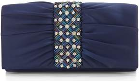 Adrianna Papell Neary Pleated Stone Clutch