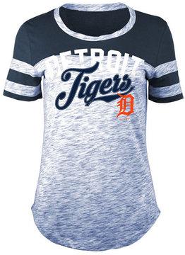 5th & Ocean Women's Detroit Tigers Space Dye Cb Yoke T-Shirt