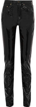 Saint Laurent - Vinyl Straight-leg Pants - Black