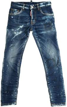 DSQUARED2 Skinny Distressed Stretch Denim Jeans