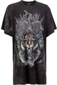 Balmain Men's Grey/black Cotton T-shirt.