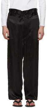 SASQUATCHfabrix. Black Satin High-Waist Trousers