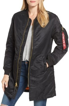 Alpha Industries Women's Water Resistant Long Ma-1 Jacket