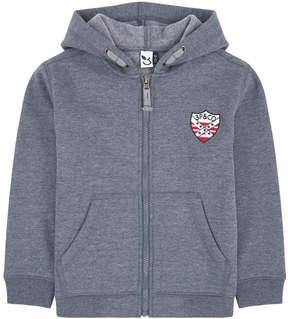 3 Pommes Zip mottled hoodie