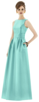 Alfred Sung D661 Bridesmaid Dress in COASTAL