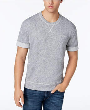 Calvin Klein Jeans Men's Rolled Short-Sleeve Linen Blend Sweatshirt