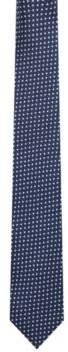 HUGO Boss Triangle Italian Silk Slim Tie One Size Dark Blue