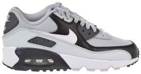 Nike 833412-016 : Boy's Air Max 90 Leather (GS) Shoe Wolf Grey/White (Wolf Gray/White/Pure Platinum/Black, 7 M US Big Kid)
