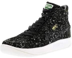 Puma Men's Challenge All Over Splatter Black Ankle-High Canvas Fashion Sneaker - 8M