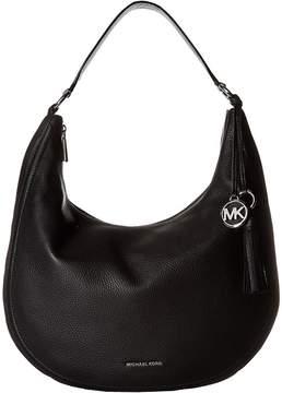 MICHAEL Michael Kors Lydia Large Hobo Hobo Handbags - BLACK - STYLE