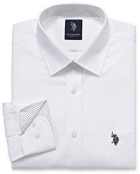 U.S. Polo Assn. USPA Uspa Dress Shirt Long Sleeve Broadcloth Dress Shirt