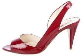Rupert Sanderson Patent Leather Slingback Sandals w/ Tags