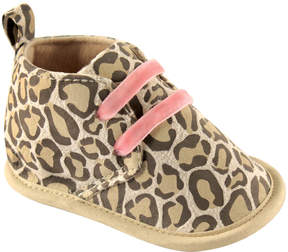 Luvable Friends Tan Leopard Desert Booties - Girls