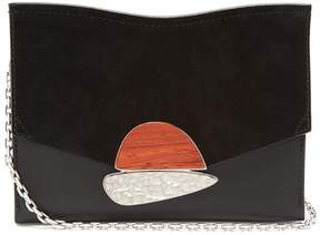 Proenza Schouler Curl small suede and leather clutch