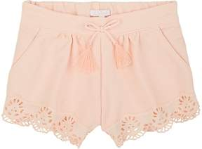 Chloé INFANTS' MILANO EYELET-TRIMMED COTTON KNIT SHORTS