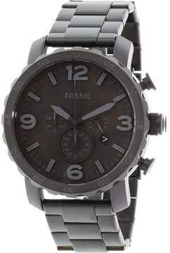 Fossil Men's JR1401 Nate Stainless Steel Watch, 50mm